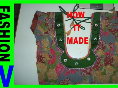 How to make designer blouse at home -7