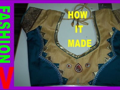 How to make designer blouse at home -6