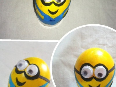 How to make egg minion , for kids