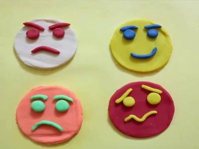 How to Make Emoji Faces with Play-Doh | Creative Fun For Kids | Play-Doh Funny Faces