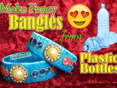 How to make fancy Bangles using plastic bottles