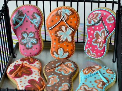 How to make flip flop cookie and sun glass cookie
