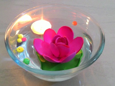 How to make floating lotus using foam sheet