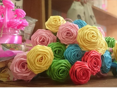 How to make handmade paper flower - Super Easy Way to Make A ' Real Rose ' From Paper