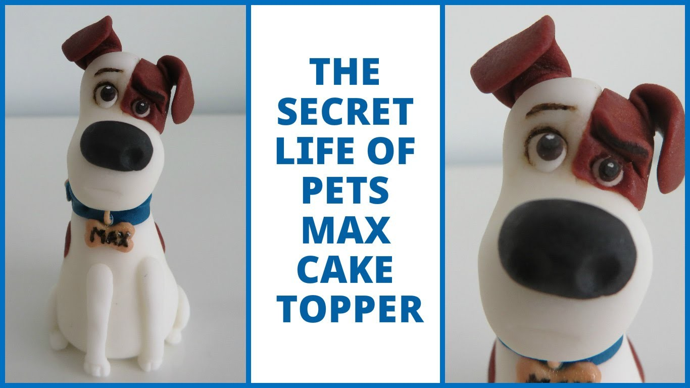 How to make Max from The Secret Life of Pets (fondant cake topper)