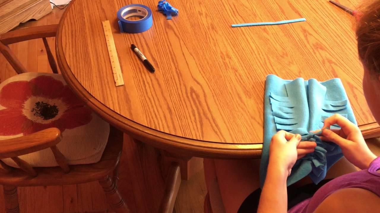How to Make No-Sew Fleece Hats