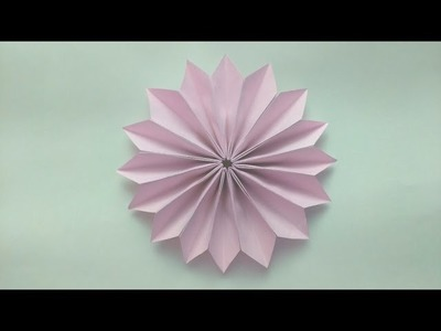 How to make: Origami Dhalia Flower (8 unit)