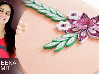 How to make paper quilling greeitng cards