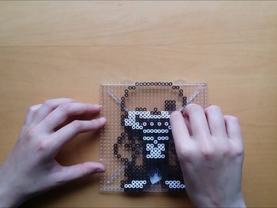 How to make perler bead Sans with magnet