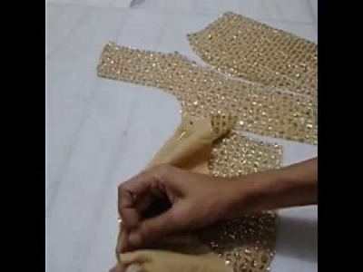 HOW TO MAKE PRINCESS CUT BLOUSE WITH DESIGNER BEADED BACK (STITCHING)