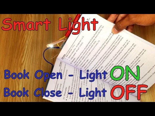 How to make SMART Reading LAMP that AUTO ON.OFF at Home