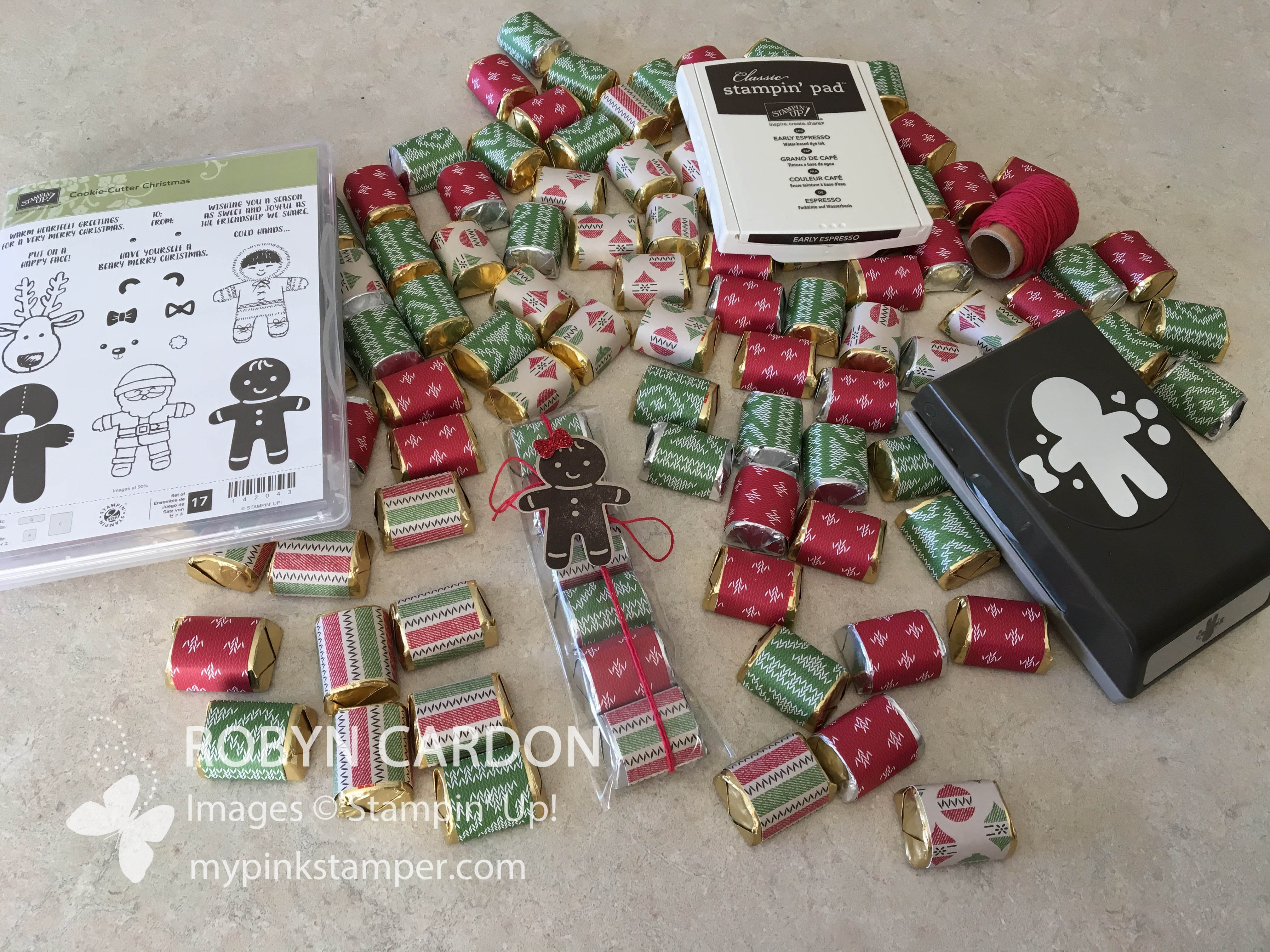 How to make Stampin' Up! Cookie Cutter Christmas  Nugget Treat Bags - Episode 512