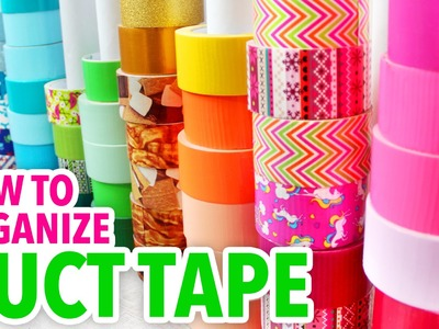 How to Organize Your Duct Tape ~ Craft Supply Hack | @karenkavett