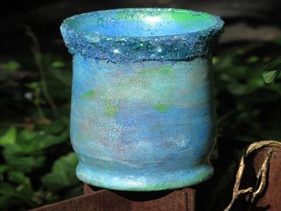 How To Repurpose that Glass Vase- Ocean theme