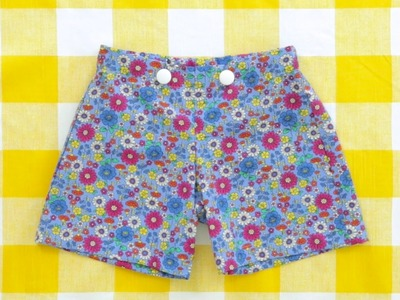 How to sew a pair of shorts with a flat front
