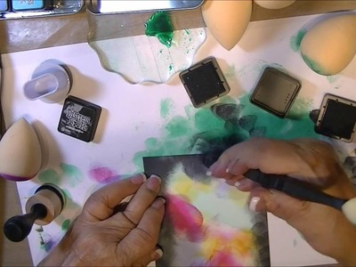 How To Sponge Galaxy Background With Inks The Easy Way  Part 1 of 3