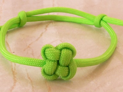 How To Tie A Paracord Chinese Clover Friendship Bracelet With Sliding Knot