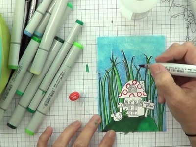 It's STAMPtember .  How to color a gnome house