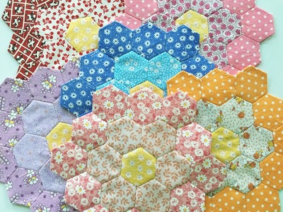 Learn how to make hexies with English Paper Piecing