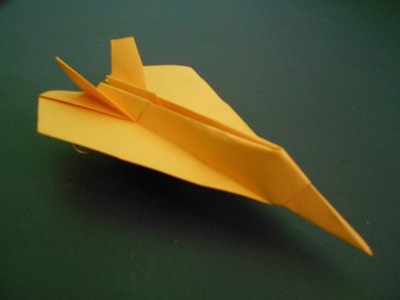 Origami Airplane Model - How To Make Paper Airplane Model Easy Origami For Kids - F-117 Nighthawk