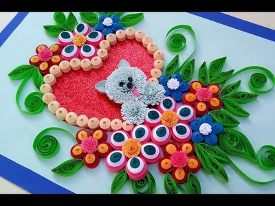Paper Quilling - How to make a Birthday Gift  Greeting Card