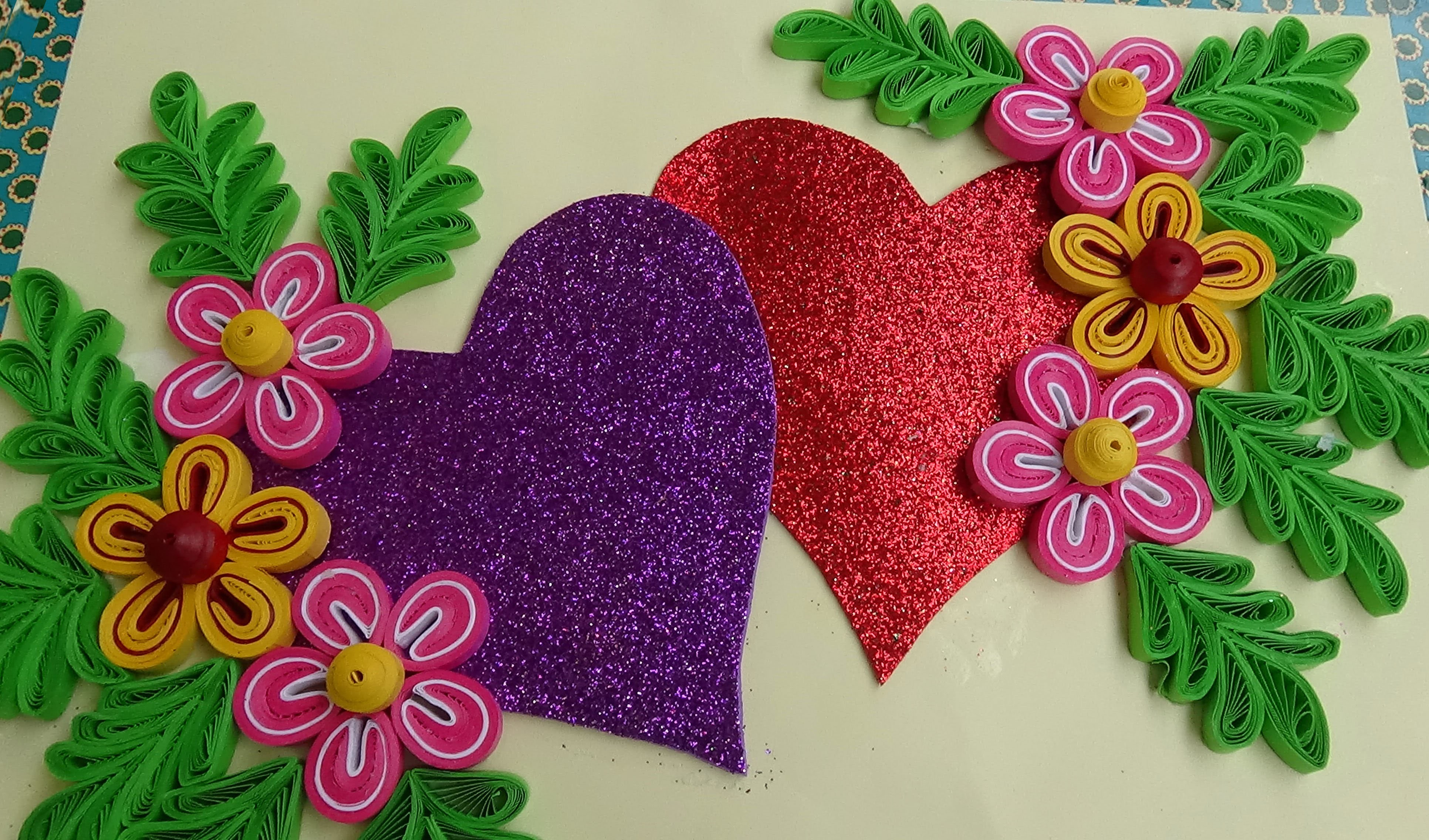 Paper quilling how to make beautiful quilling heartlove for Quilling designs how to make