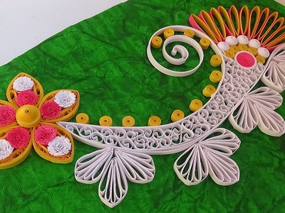 Paper Quilling | How to Make new model design Quilling Flower Greeting Card Step by Step