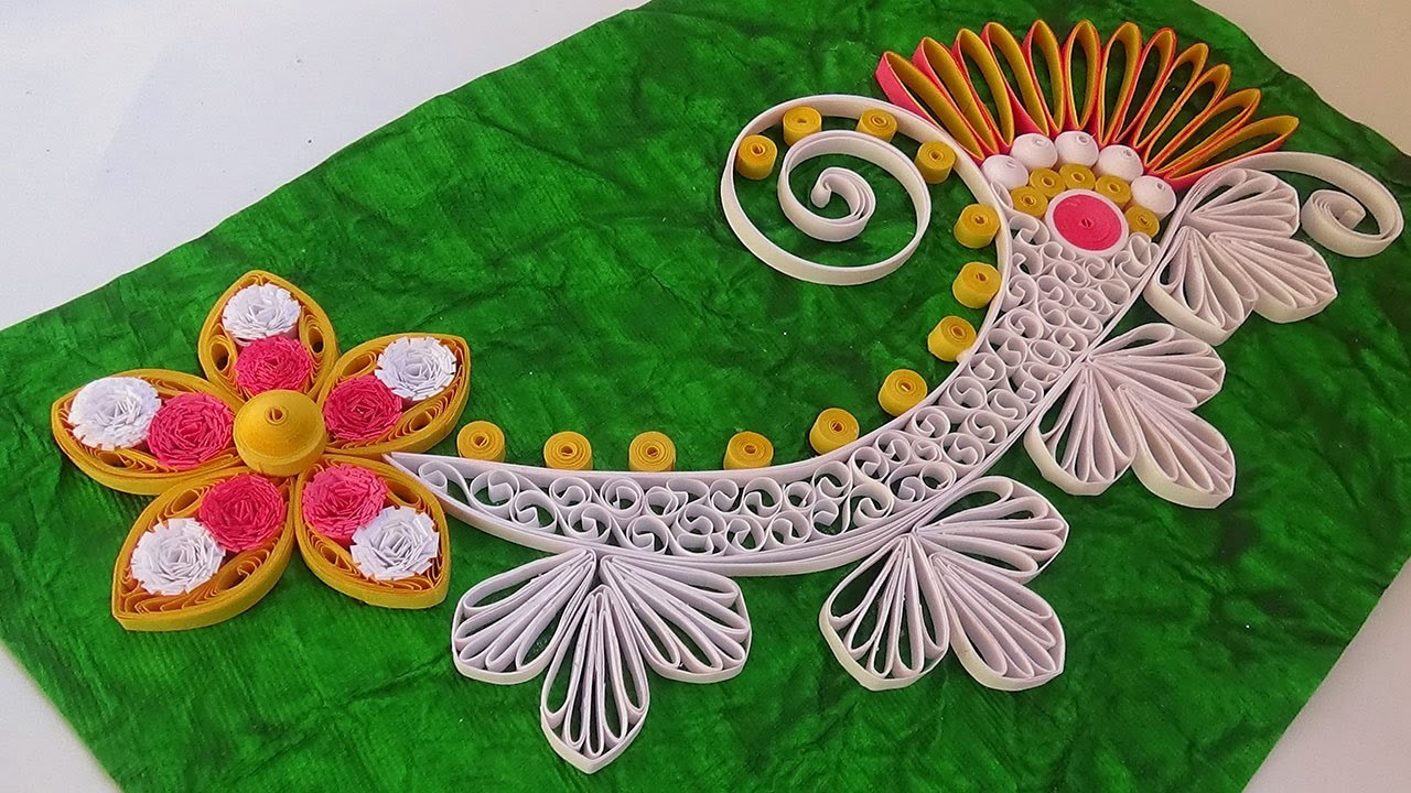 Paper quilling how to make new model design quilling for Easy quilling designs step by step