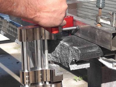 """PitBull """"BigDog"""" Hydraulic Stone Chiseler - How To Use"""