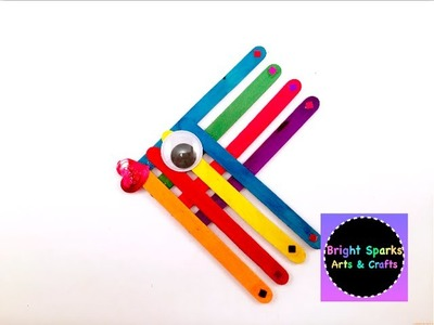Rainbow Fish * How to Make * Popsicle.Lolly Sticks * Arts Crafts Fun