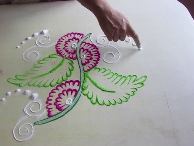 Rangoli design |  simple rangoli design | how to make rangoli designs step by step