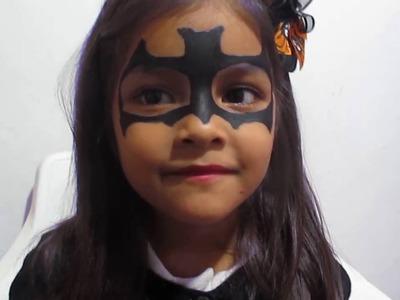 Tutorial Maquillaje Halloween Batichica Makeup Batgirl DIY
