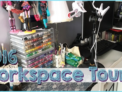 Work Space Tour 2016 My art desk and how I record art videos