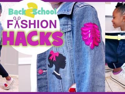 Back to School FASHION UNIFORM HACKS!!! | DIY How To Patches, Pom Poms, Tassels | BlueprintDIY Kids