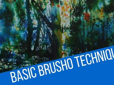 Basic brusho techniques - how to use colourcraft brusho crystals