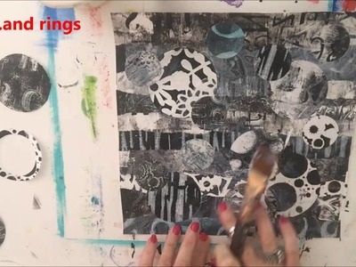 Black and White Gel Press® Prints Mixed Media How To by Cyndi Cesare