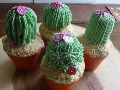 Cactus Cupcakes. . how to make.