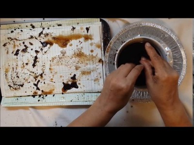 Coffee dying papers - How I coffee dye my papers