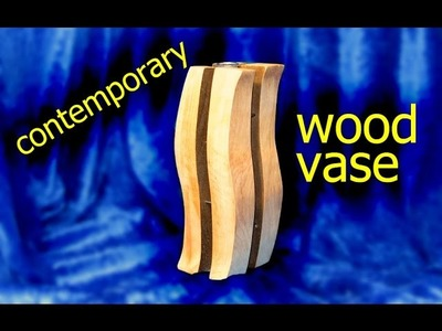 Contemporary Wooden Vase (with Nails). How-To