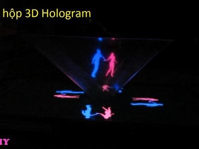 DIY- How to make 3D hologram. Trò chơi làm hộp 3d xem hoạt hình Hologram. Ami DIY