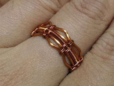 Handmade jewelry tutorials - Wire Jewelry Lessons - DIY - How to make ring