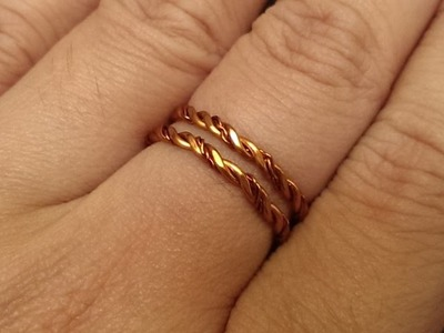 Handmade jewelry tutorials - Wire Jewelry Lessons - DIY - How to make twisted ring