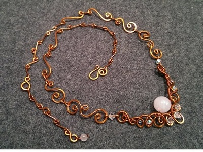 Handmade jewelry tutorials - Wire Jewelry Lessons - DIY - How to make necklace