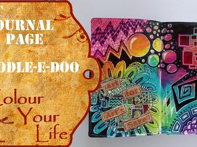 How to create a doodeled Art Journal Page