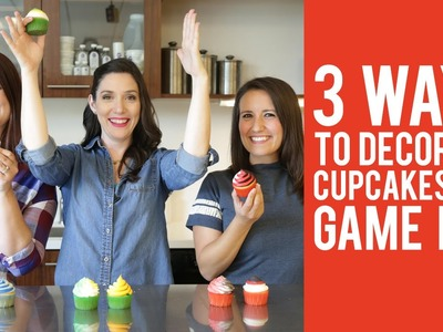 How to Decorate Cupcakes for Game Day – 3 WAYS!