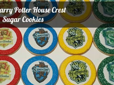 How to decorate Harry Potter House Crest sugar cookies