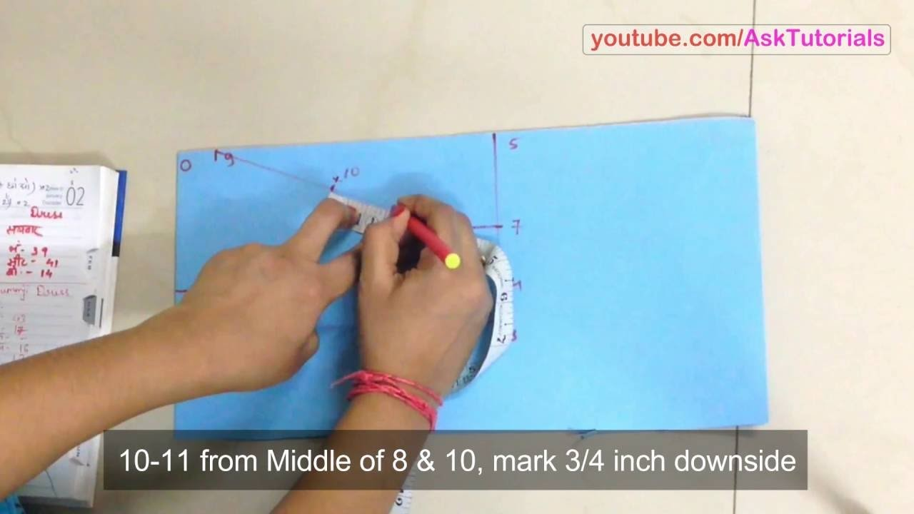 How to Draft Blouse Sleeve (with and without Lining Cloth) in Hindi