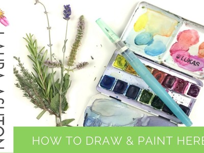 How to Draw and Paint Plants in Watercolour | Garden Herbs