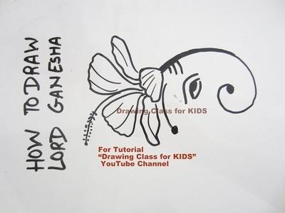 How to Draw- Jasmine Flower Ganesha Ganpati Face Step by Step Tutorial for Kids