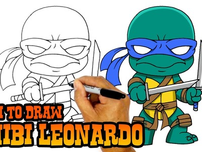 How to Draw Leonardo (Chibi)- Teenage Mutant Ninja Turtles
